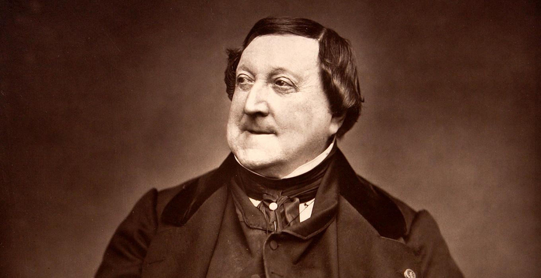 ロッシーニの肖像写真。1865年。