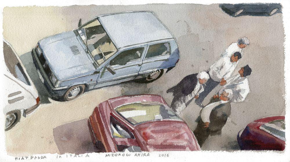 水彩画家の溝呂木陽(みぞろぎ・あきら)さんがつくり出す、イタリアンのヘリテージカーの世界。