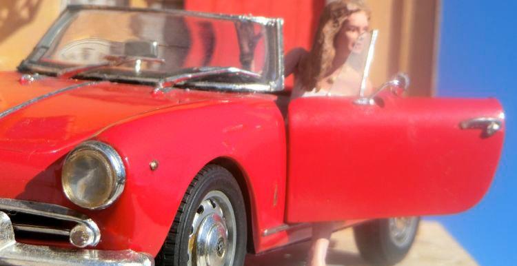 イタリア車のジオラマ作品