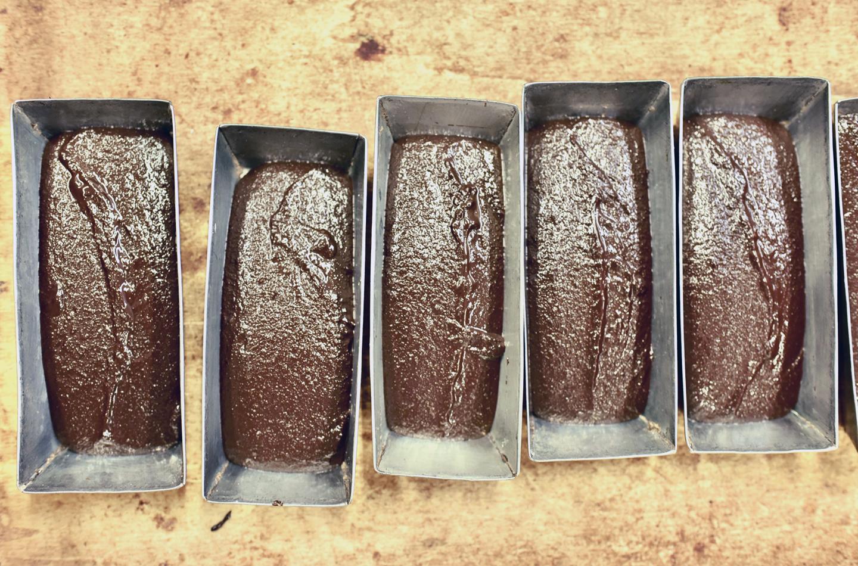 型に入ったチョコレート