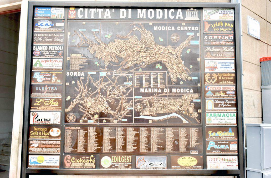 モディカの地図