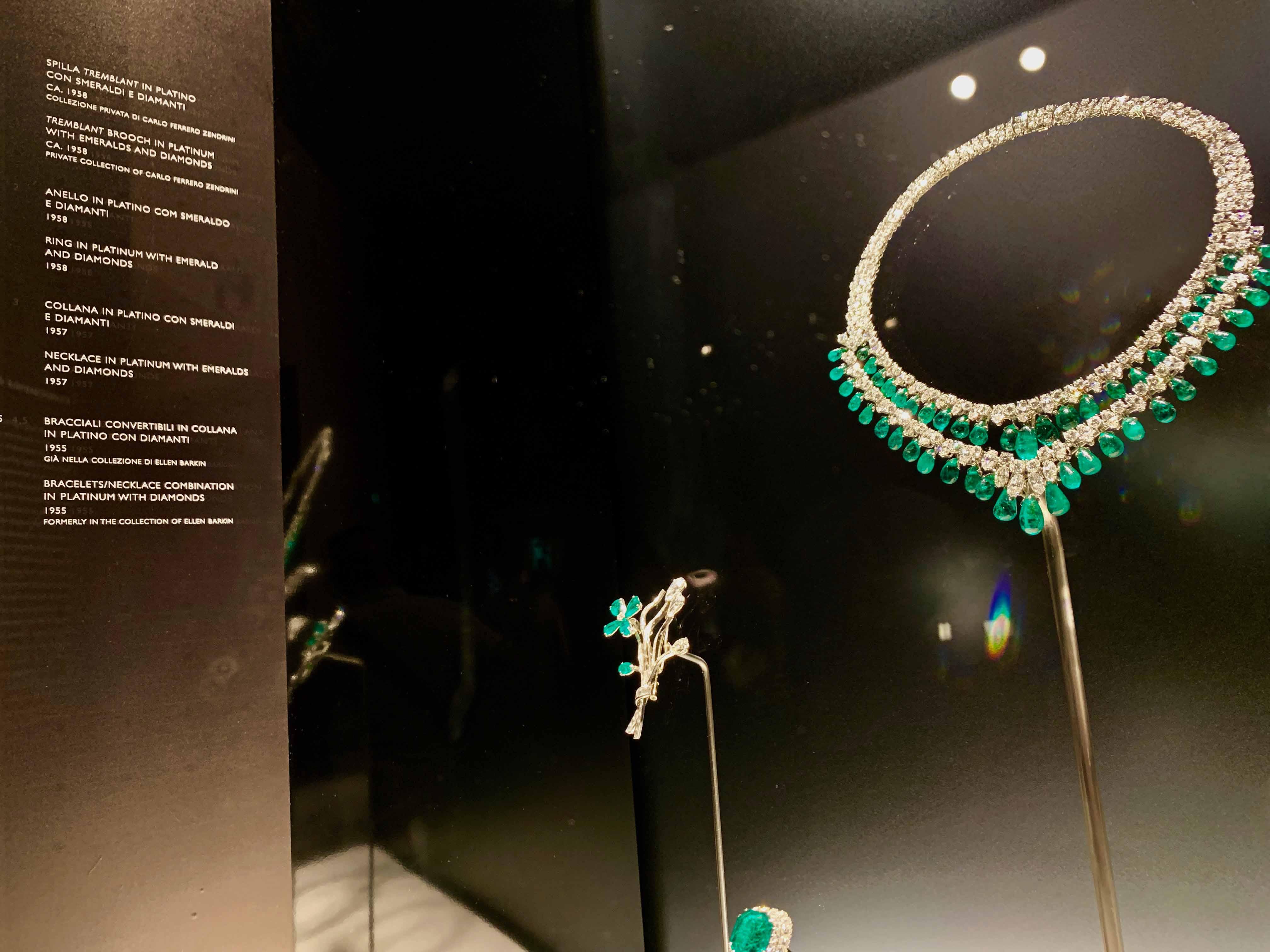 エリザベス・テイラー、イングリッド・バーグマン、オードリー・ヘップバーンなどが所有していたブルガリのジュエリーなども展示