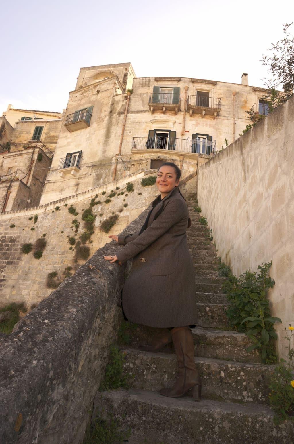 マテーラを案内してくれた友人アンナ・ネリーナ・オルランディーニ