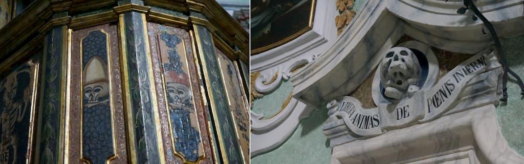 ユーモラスなドクロと美しい内装のギャップがユニークなプルガトリオ教会
