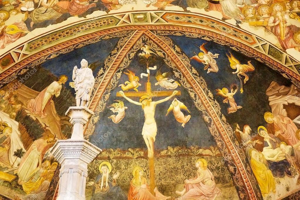 シエナ大聖堂の地下はフレスコ画で埋め尽くされる
