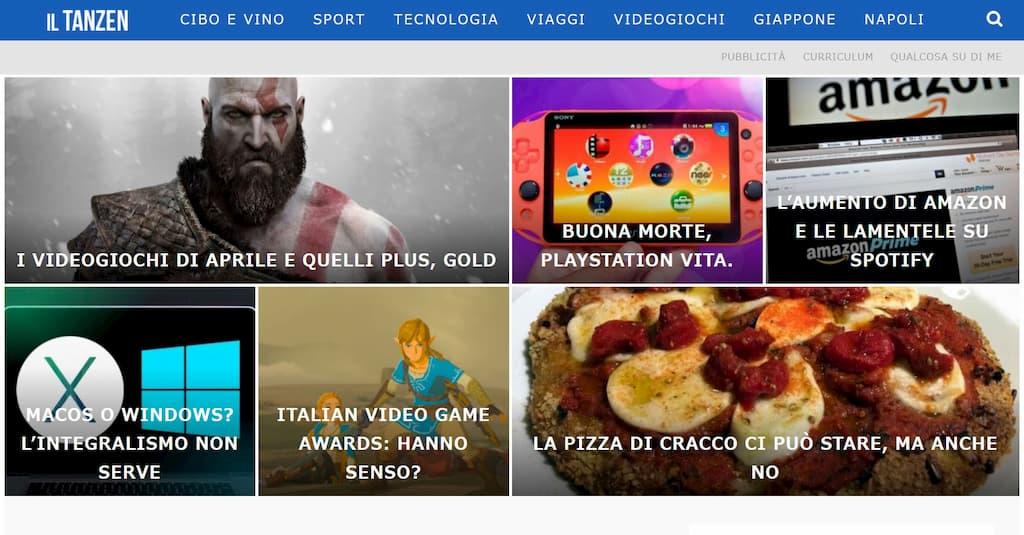 「IL TANZEN」のサイト。食とゲーム、テクノロジーという異なるカルチャーがミックスされている