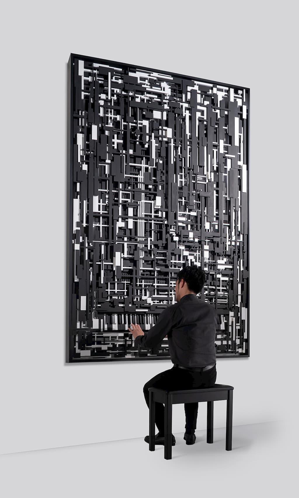 体験型作品のひとつ「Pianissimo Fortissimo(ピアニッシモ・フォルティッシモ)」を展示