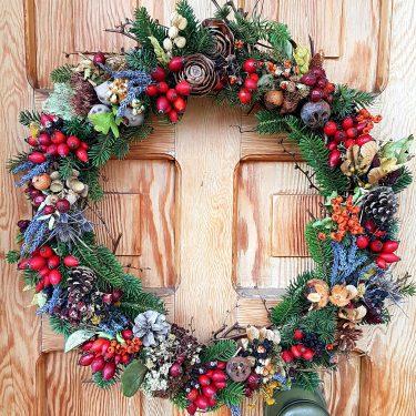 昨年作ったクリスマスのリース