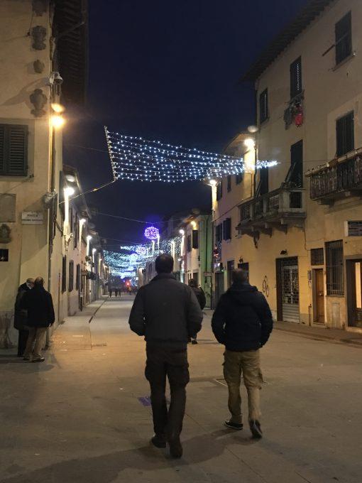 自宅から教会までフィレンツェの街を散歩