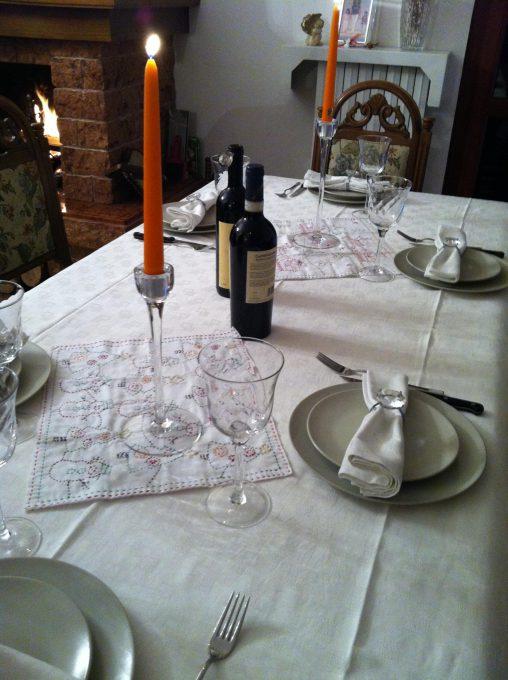 クリスマスイブは友人とディナー。テーブルコーディネート
