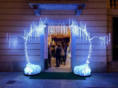 トリノのクリスマスマーケット、アディスコの入り口の様子