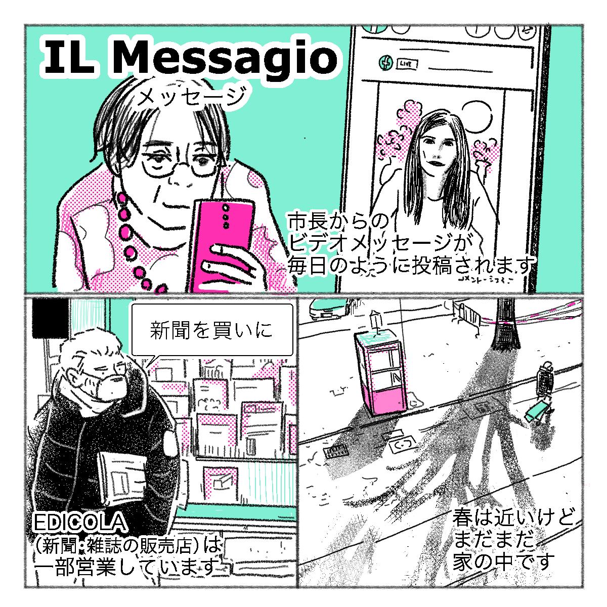 イタリアの現在の様子を説明したイラスト