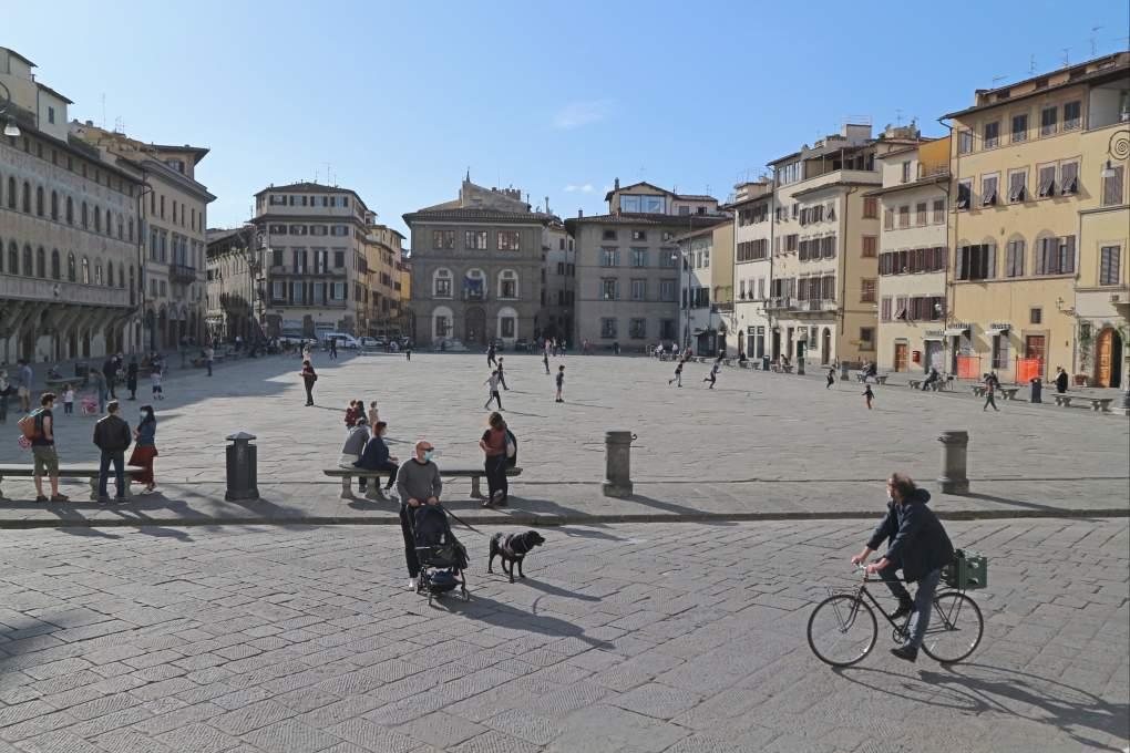 外出制限が緩和されたフィレンツェ