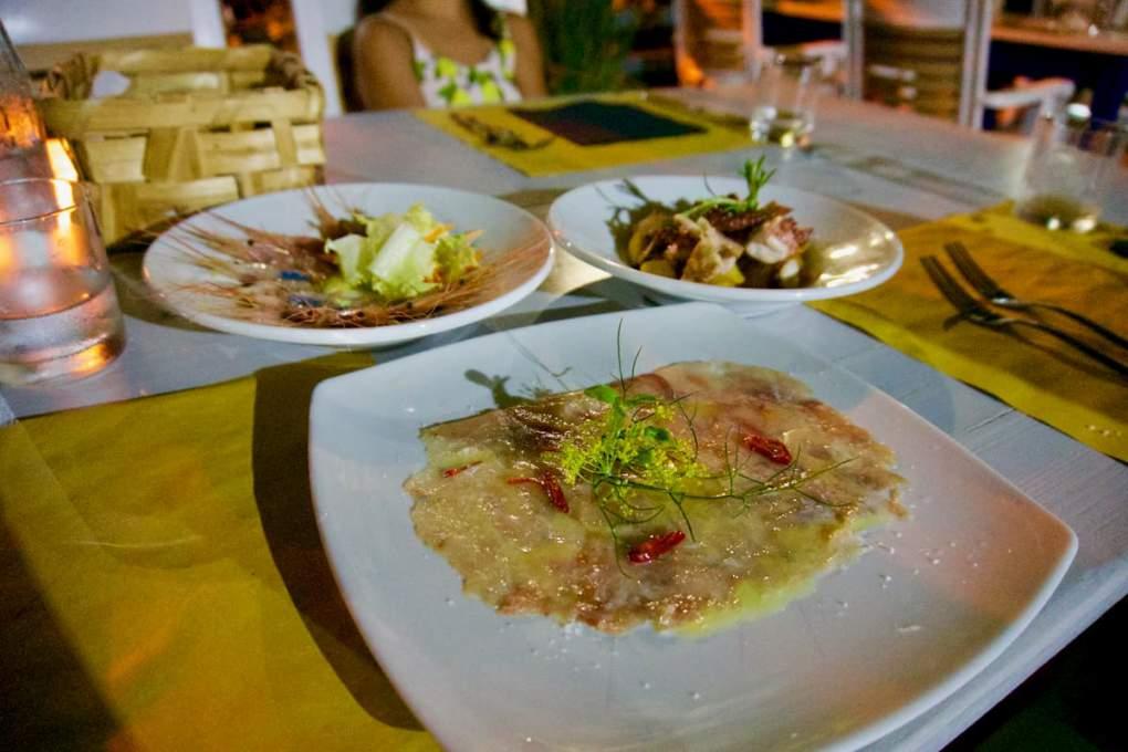 トリノからの南へUターンした若夫婦による魚介レストラン(カラーブリア州リアーチェ近郊)
