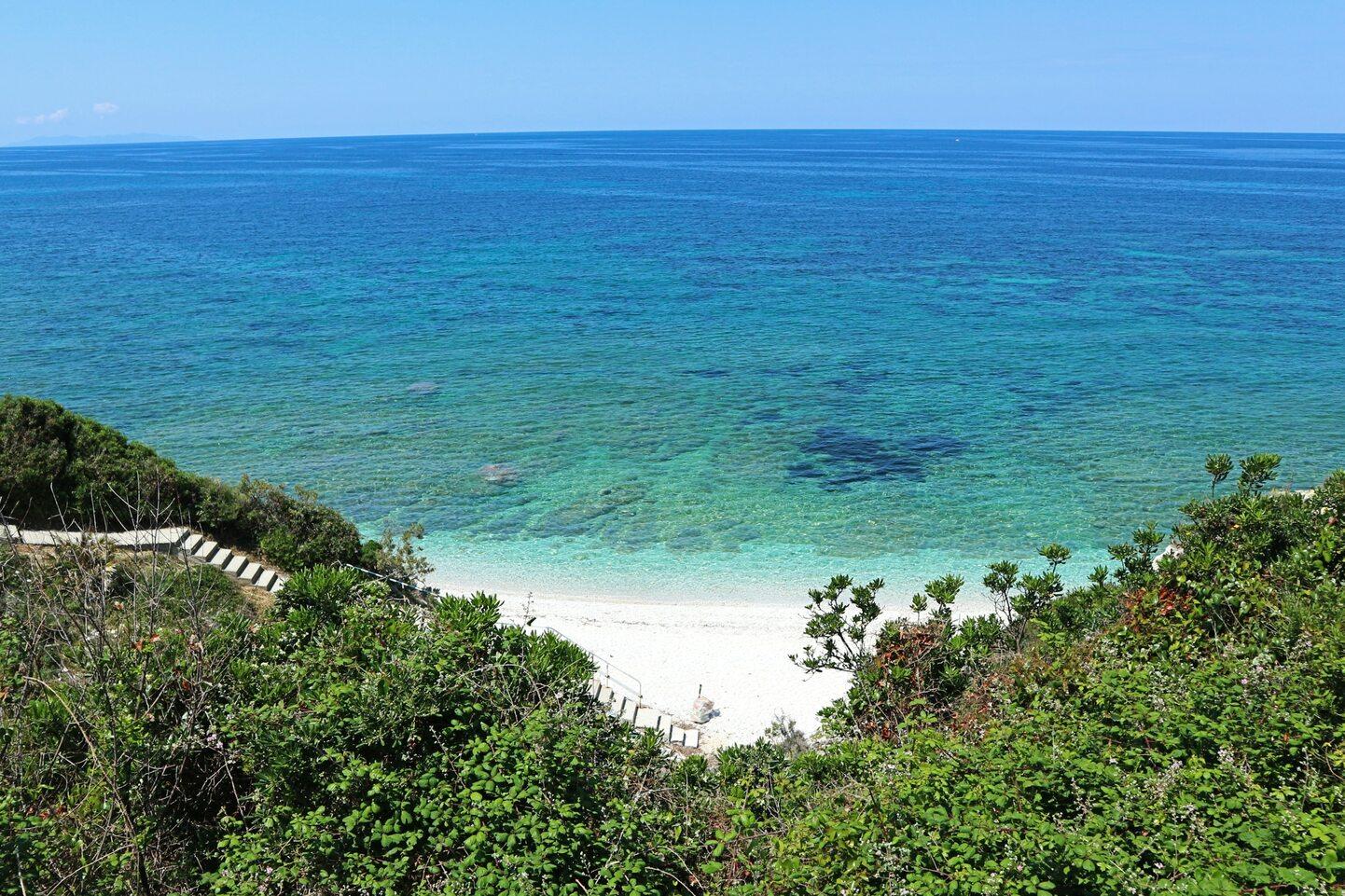 エルバ島のビーチ