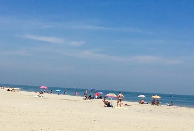 イタリアのビーチの様子
