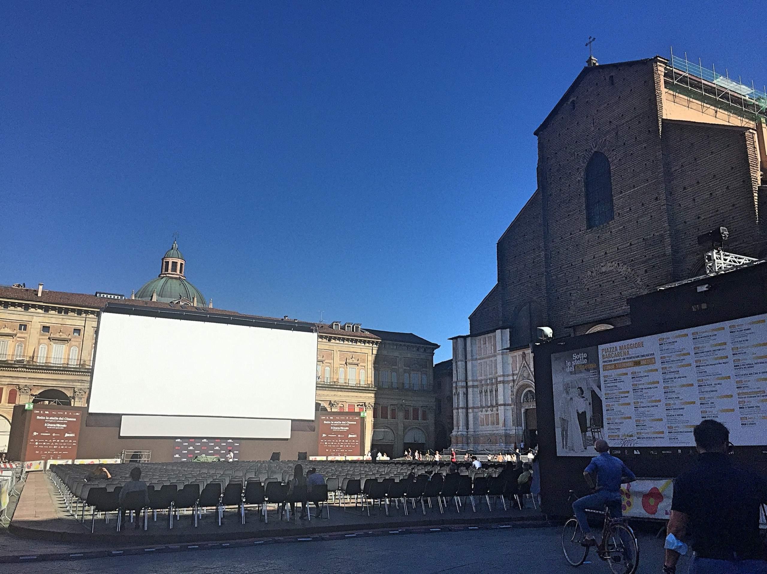 ボローニャ野外映画祭会場