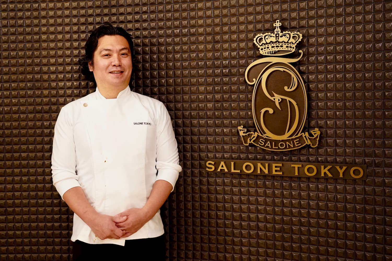 「サローネトウキョウ」シェフ・永島義国さん。この時期だから特に、イタリアらしさを感じられるよう、各州の伝統料理を組み込んだコースを構成している