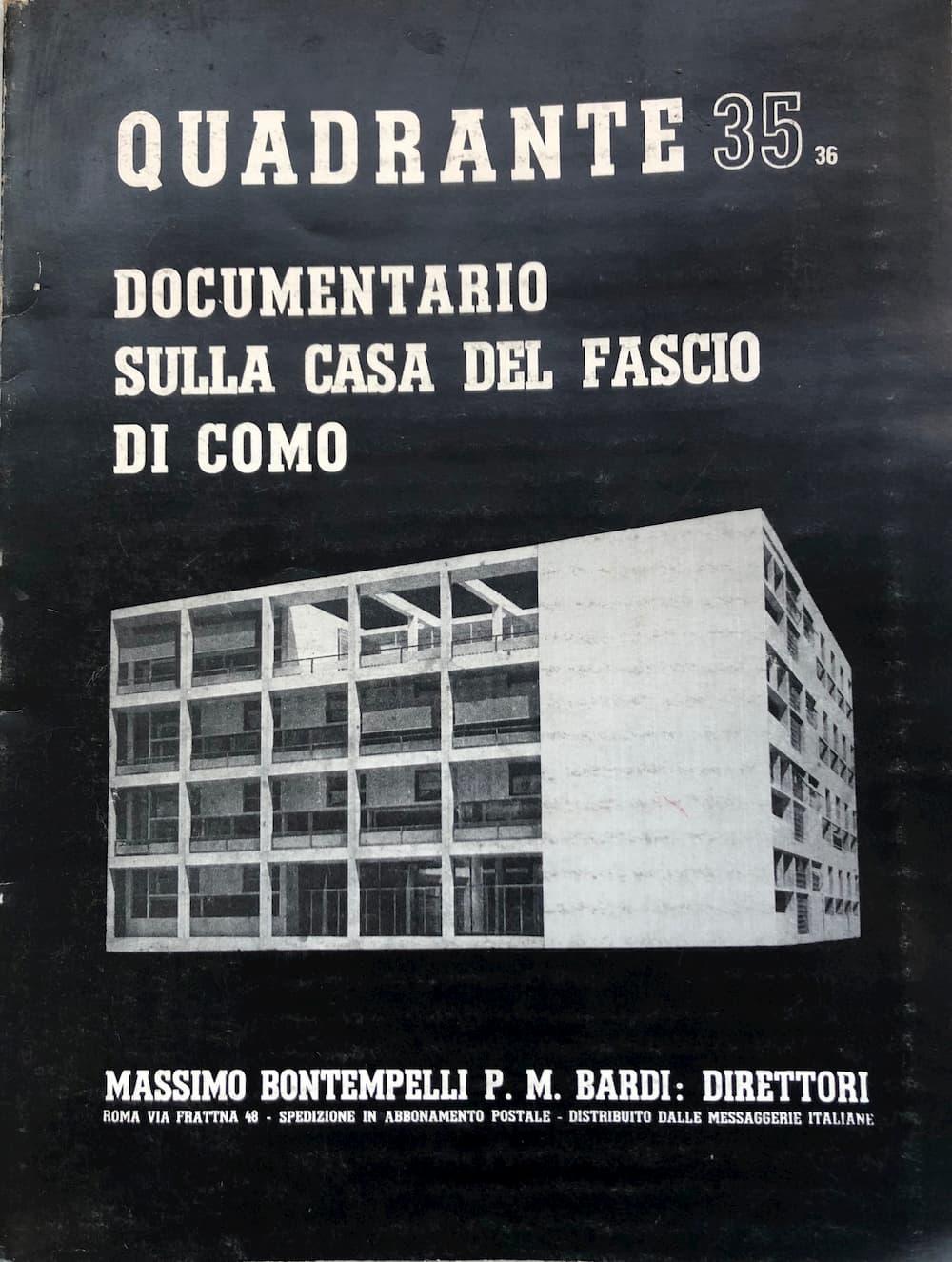 当時29歳のテラーニも創刊に関わった建築雑誌『クアドランテ(Quandrante)』