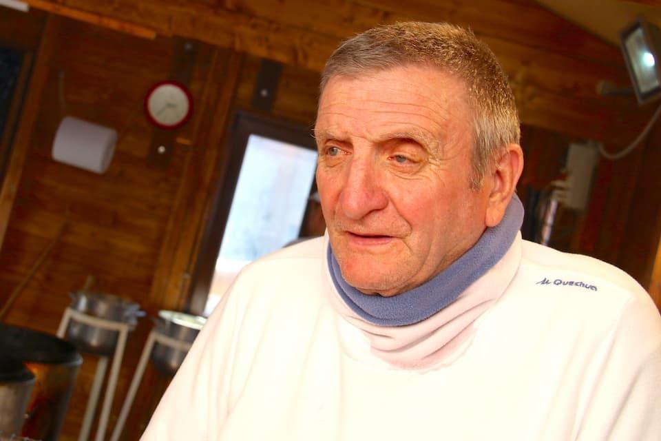 屋台を開いて70年あまり。店主のマリオ・サヴェッリさん。