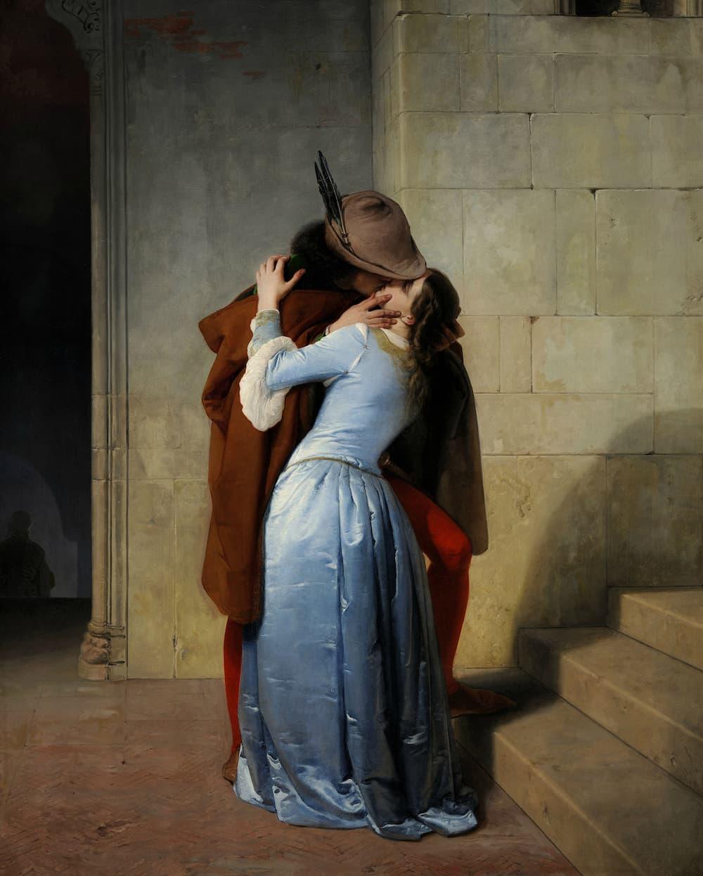 フランチェスコ・アイエツ作「イル・バーチョ(キス)」(1859年作、ブレラ絵画館所蔵)