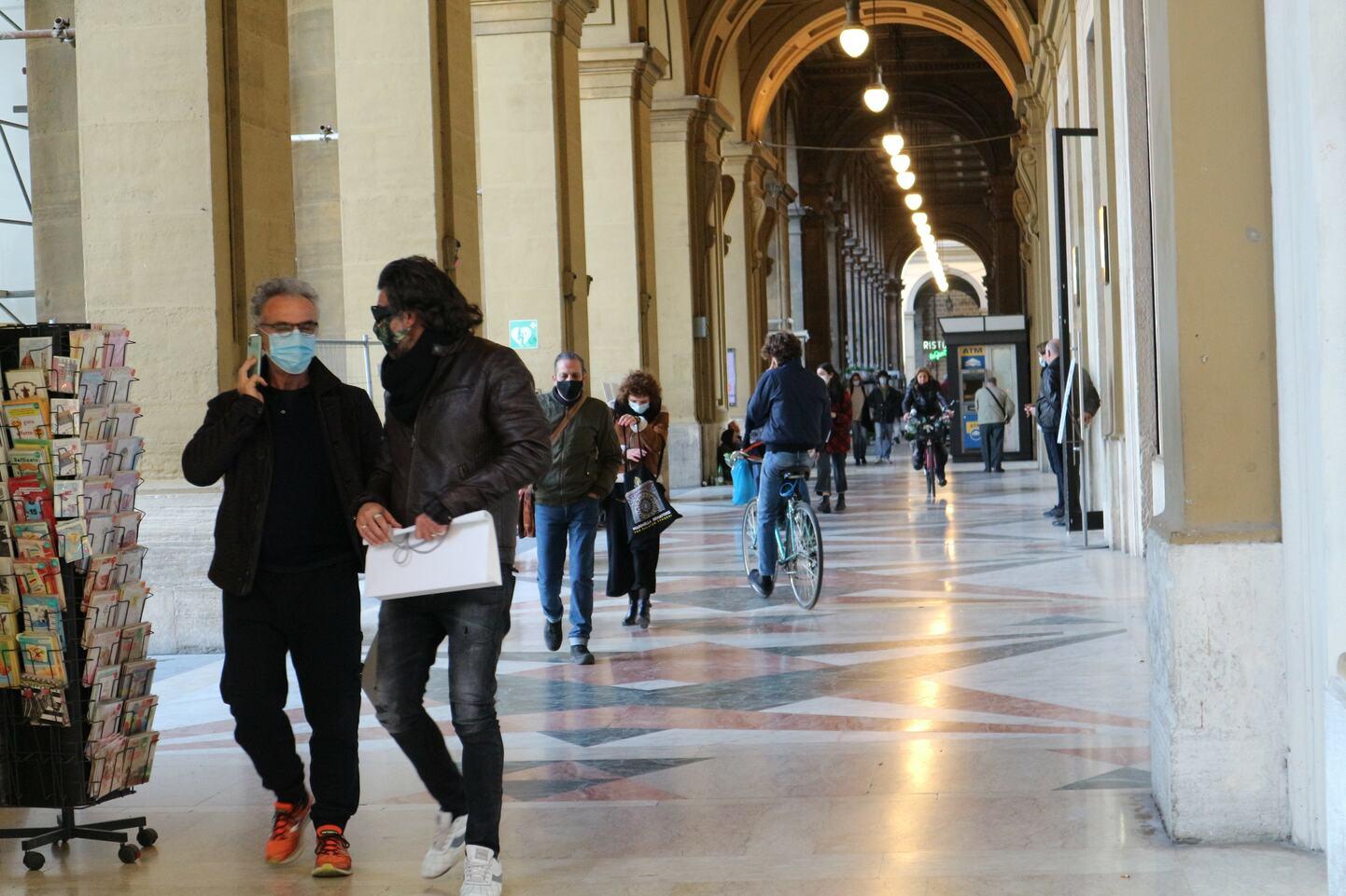 2021年3月25日撮影、フィレンツェの中心街