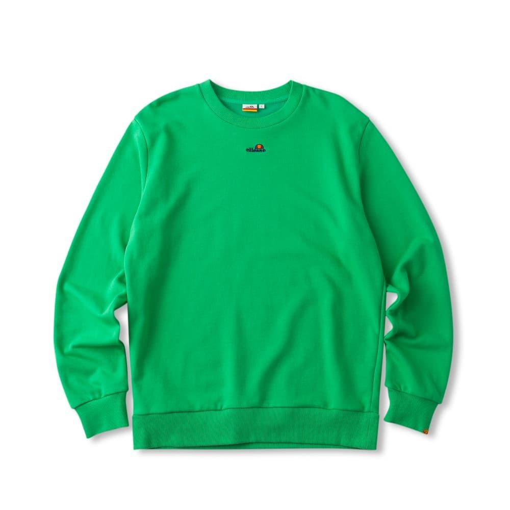 エレッセの緑クルースウェットシャツ
