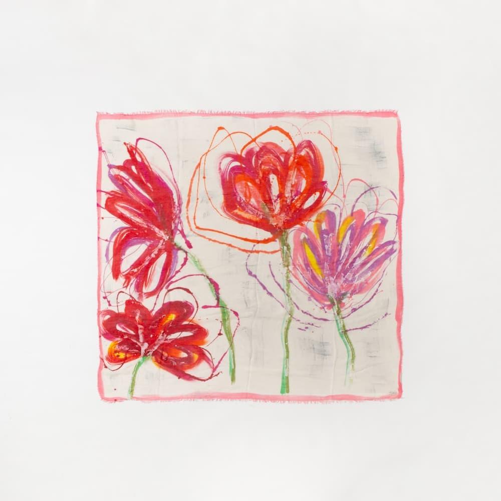 花の模様のストール