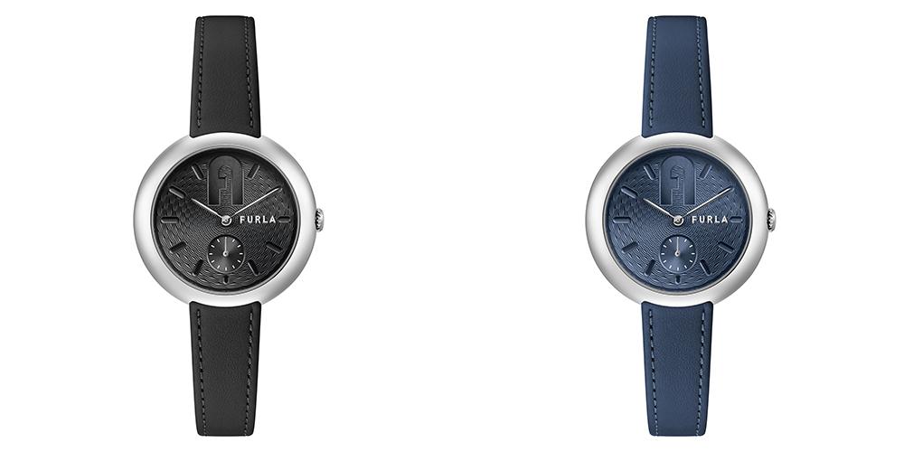 黒い腕時計と青い腕時計