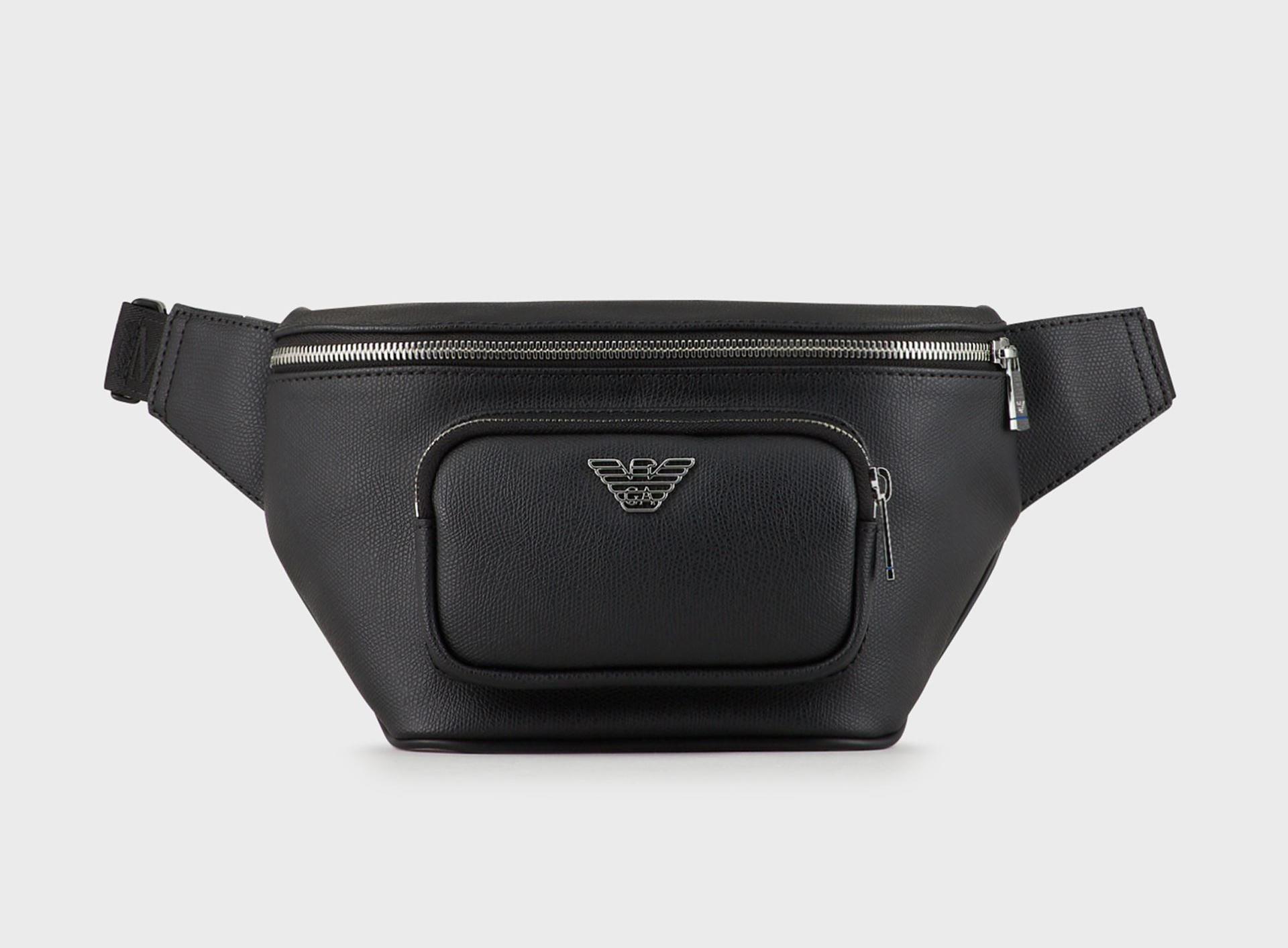 黒レザーベルトバッグ