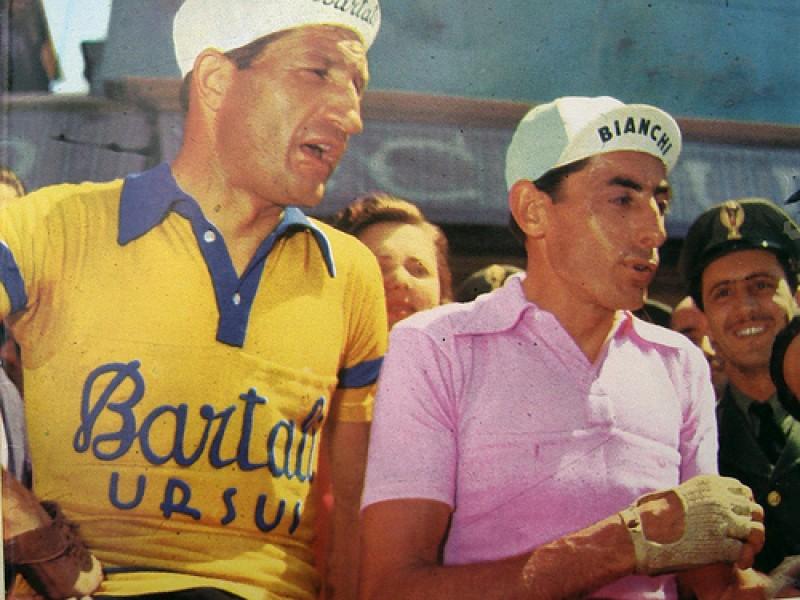 ジーノ・バルタリ(左)とファウスト・コッピ(右)