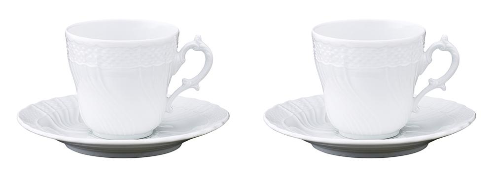 ベッキオジノリホワイト ペアコーヒーカップ&ソーサーL 200cc 11,000円(税込)/GINORI 1735(ジノリ 1735)