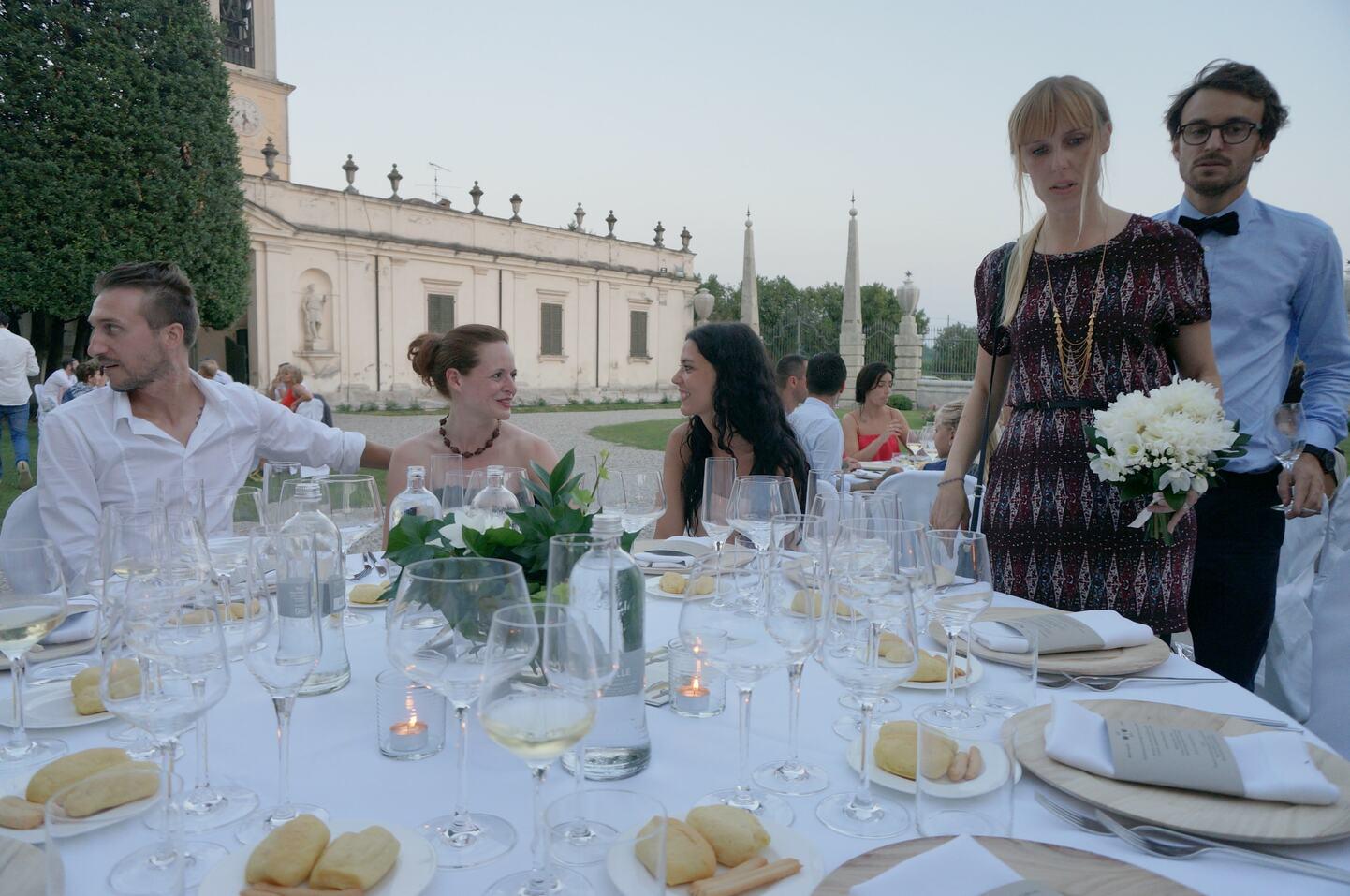 結婚式テーブルの様子