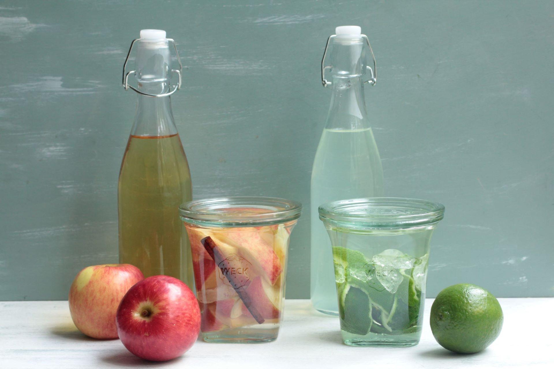 ライム酒とアップルとシナモン酒
