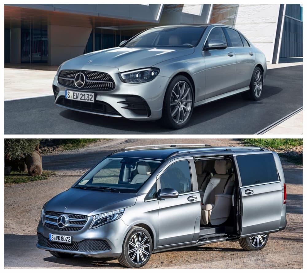 上: メルセデス・ベンツ Eクラス、下: Vクラス(出典:Mercedes-Benz(https://www.mercedes-benz.it))
