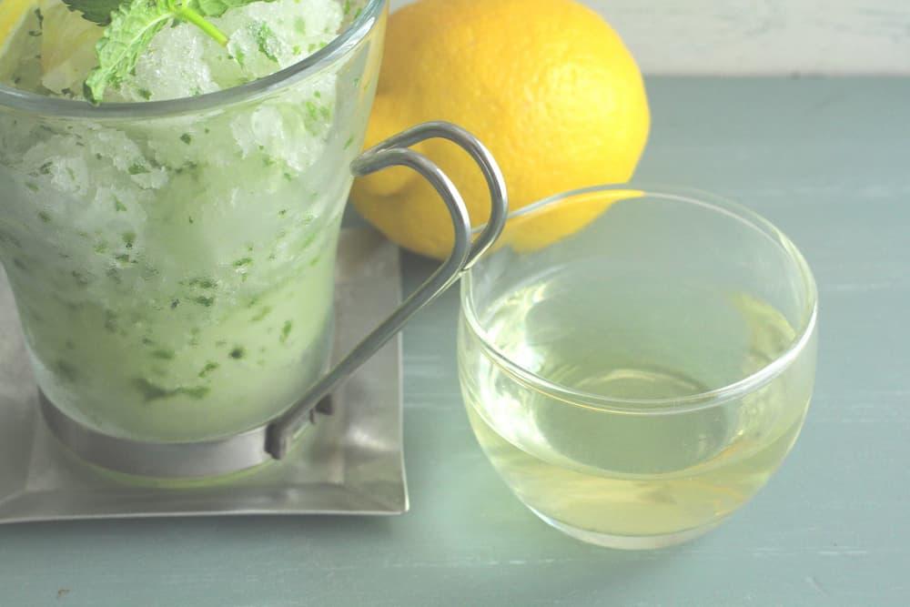 レモンとミントのジェラート