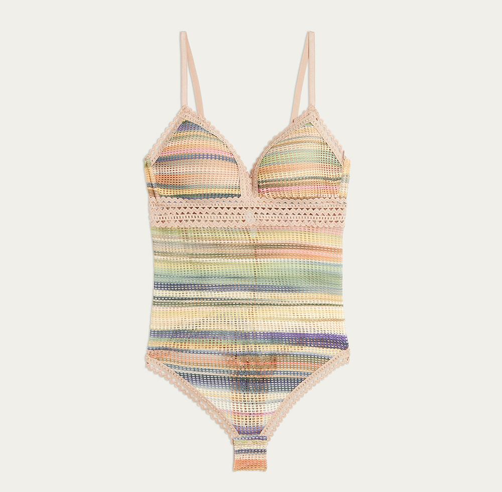 Tiziana Color Stripes ボディスーツ 7,990円(税込)/Intimissimi(インティミッシミ)