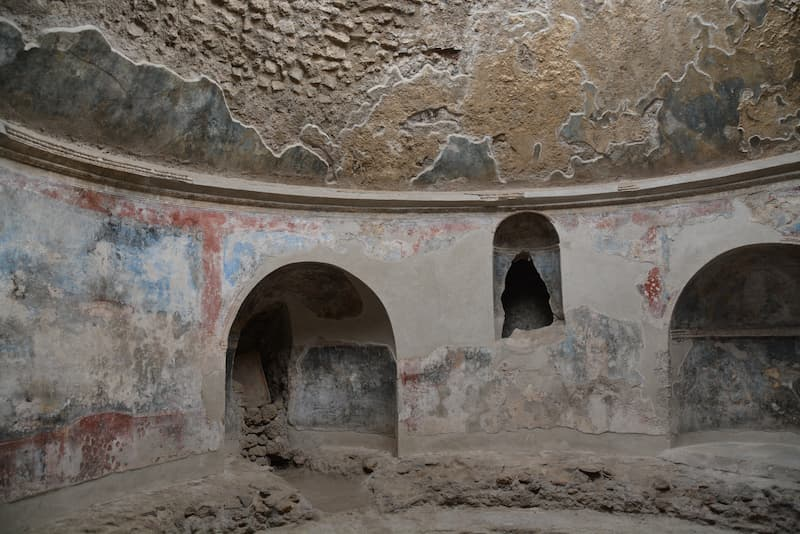 ポンペイ遺跡のスタビアーナ浴場(撮影:須飼真理)
