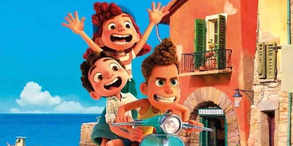 イタリアが舞台のディズニー映画あの夏のルカより中心人物の3人(ジュリア、ルカ、アルベルト)