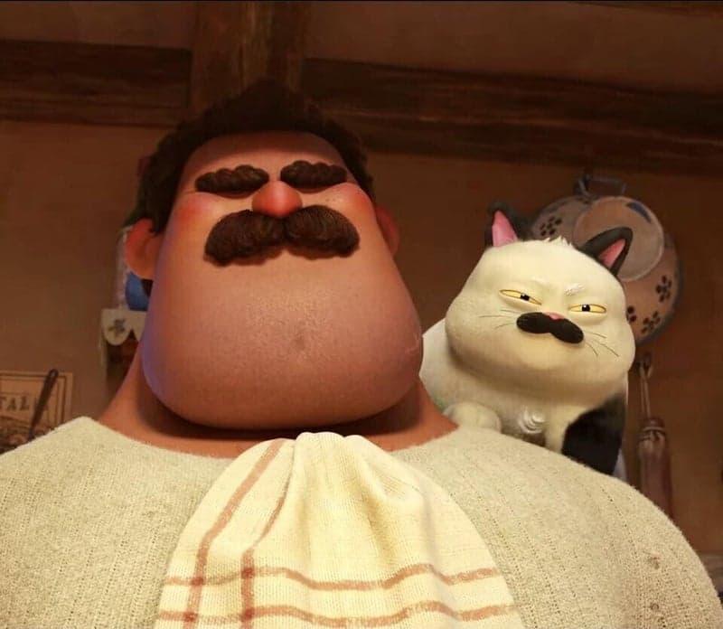 イタリアが舞台のディズニー映画あの夏のルカより体も心も大きく強いマッシモと飼い猫マッキャベッリ
