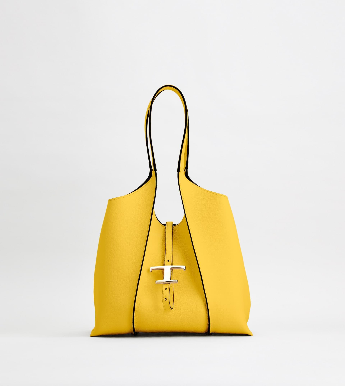 T タイムレス ショッピングバッグ スモール W29.5×H25×D14cm 185,900円/TOD'S(トッズ)※各サイズ全4色展開、取り外し可能なレザーポーチ付き。