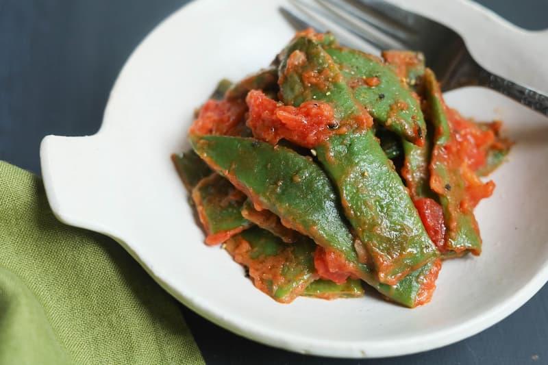 モロッコいんげんのトマト煮