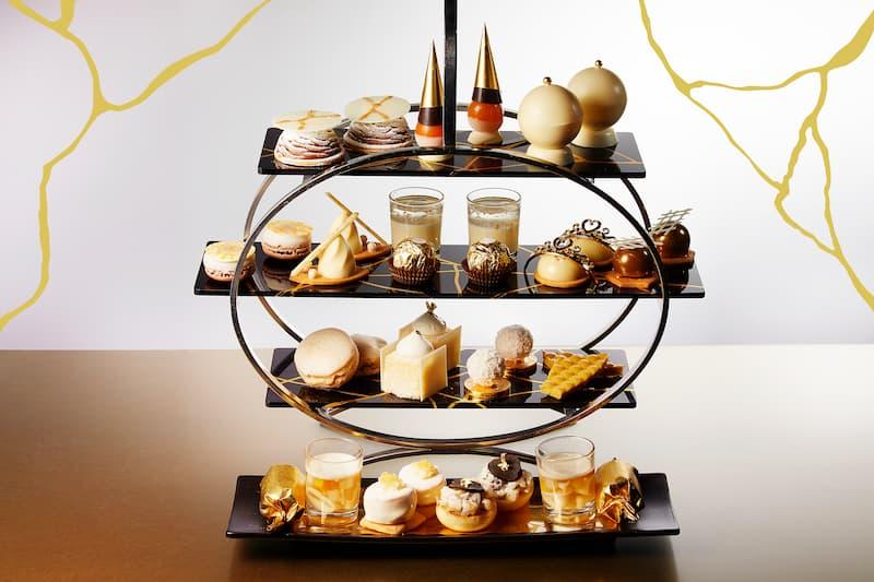 ANAインターコンチネンタル東京の2階「アトリウムラウンジ」では、ホワイトチョコレートを使用し、日本の伝統的な修復の技術「金継ぎ(きんつぎ)」をテーマにした「金継ぎアフタヌーンティー」が登場