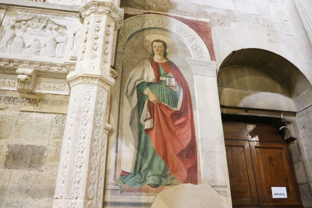 ピエロ・デッラ・フランチェスカのフレスコ画「マグダラのマリア」